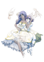 Commission: White and Gold by tahliadenae