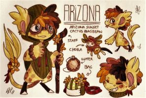 Arizona Ref. Sheet [Commission w/ Outfit Design] by Baraayas