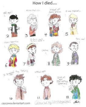 Deaths of the Doctors -coloured in- by dreamingoflight