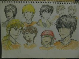 Percy Jackson Characters by lilchyeah