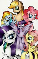 Mane 6 11x17 print coming soon by PonyGoddess
