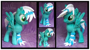 Frosty OC custom plush by Nazegoreng