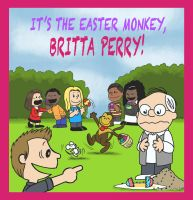 It's the Easter Monkey, Britta Perry! by BRENDANSULEIMAN