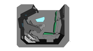 Wild Mecha cockpit view by Eddkun