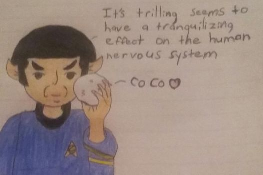 Spock with tribble by Roxasfan23