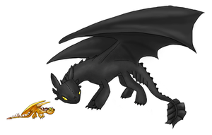 Toothless and terror by 71-Blackbird