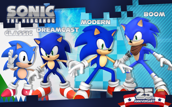 Sonic 25th anniversary: Through the Eras! by Nibroc-Rock