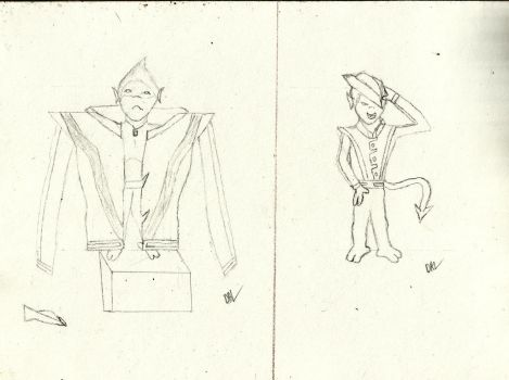 B the Bamf sketches in thriller jacket by AnoTsukai