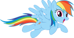 VECTOR - Happy Rainbow Dash by Jailboticus