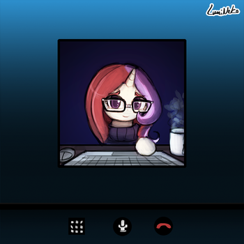 (30minutechallenge) Webcam Call with Moondancer by luminaura
