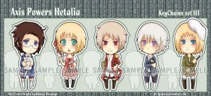 APH chibiKeychains set III by Quiss