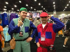 Anime Expo: Mario Mario and Luigi Mario. by CinemaBrony