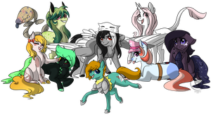 Commission for Cain-Murderer (Multiple Characters) by RhinestoneArts