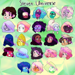 Steven Universe stickers! by joannawentbananas