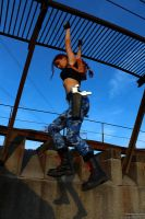 Lara Croft - climbing by TanyaCroft