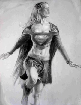 Supergirl Drawing by Orolin2015