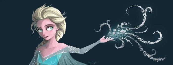 Elsa, the Snow Queen by Domiticus