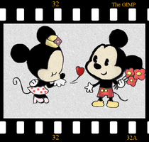 Mickey x Minnie colo by zomgmeisinsane