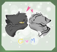 Warriors cats : Graystripe x Millie by Tiffy-OoO