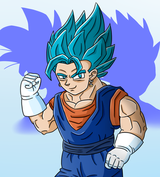 Dragon Ball Super- Vegito Blue (SPEEDPAINT ALSO) by thegamingdrawer