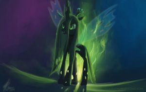 Chrysalis the Changeling Queen. by Raikoh-illust
