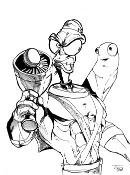 Earthworm Jim - Inks by MartinDunn
