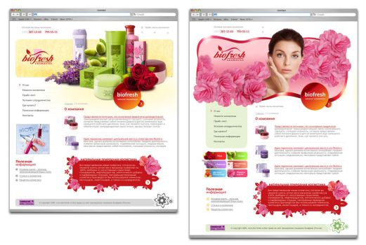 2 concepts cosmetics site by Allmustbebeautiful