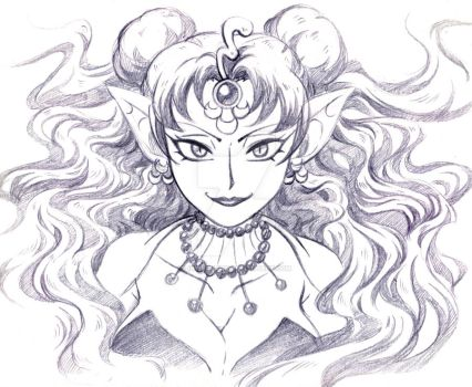 Queen Nehelenia sketch by In-Security