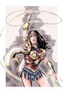 Greco-Roman Armor Wonder Woman by timothylaskey