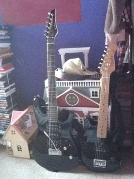 2 of my guitars by Mevvl