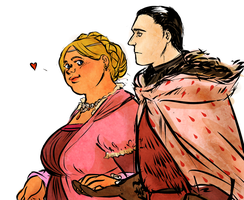 asoiaf sketch Fat Walda and her Hubby by jubah