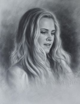 Eliza Taylor Drawing Portrait by Dry Brush by Drawing-Portraits