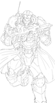 Tundra Gladiarus Lineart by 123GOHANZ