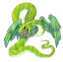 Winged Snake by Kyrara
