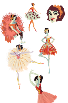 Ballet doodles by savvy-weasley