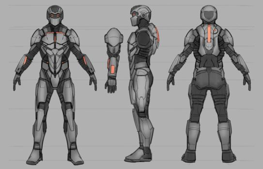 Commission: Deadspace-inspired Combat Suit by TitikAwalCreative