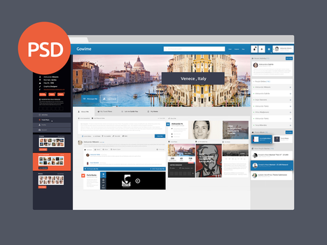 Travel Network - Free PSD template by vasiligfx