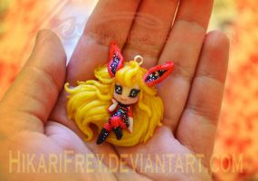 Flareon mini doll necklace version 2 by HikariFrey