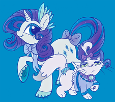 Shine Bright Rarity and Opalescence by Opallene