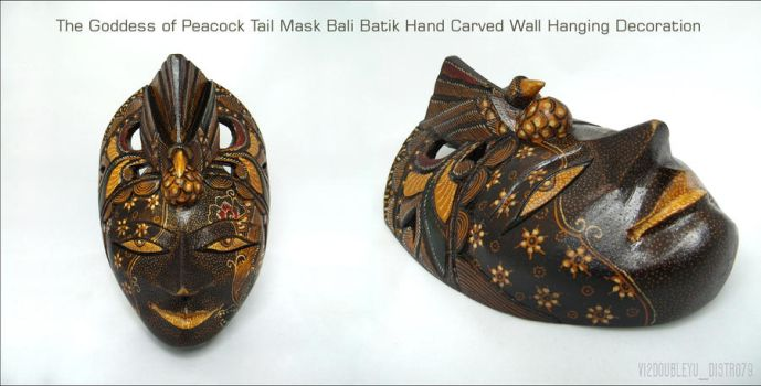 The Goddess of peacock Tail Mask BALI BATIK by Vi2DoubleYu