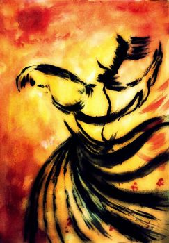 Sufi Dance Painting by DrMariam