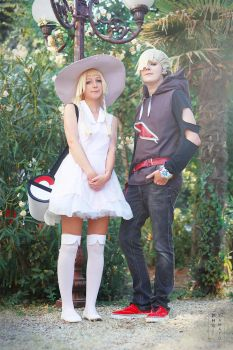 Lillie and Gladion ~ Pokemon Sun and Moon by LauMao
