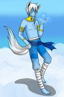 .: New OC: Vincent the Ice Wolf :. by MisterZei