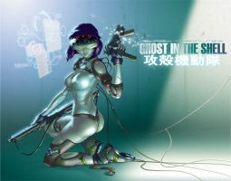 GHOST IN THE SHELL by chesterocampo