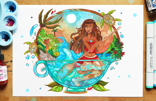 +Moana - The Journey Begins+ by larienne