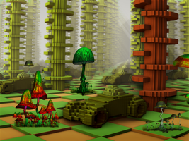 Fractal Brick Forest by tiffrmc720