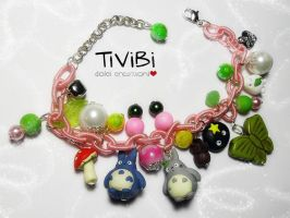 Colorful bracelet Totoro inspired by tivibi