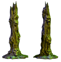 Spooky Tree 01 PNG Stock by Roy3D