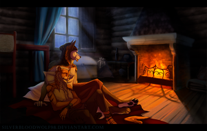 Fireplace by Silverbloodwolf98