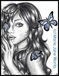 100 TC 45. Bug ~ Saturated Butterfly by MarieJaneWorks
